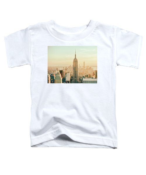 New York City - Skyline Dream Toddler T-Shirt by Vivienne Gucwa