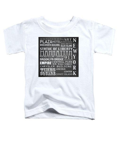 New York Famous Landmarks Toddler T-Shirt