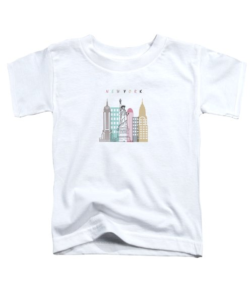 New York  Minimal  Toddler T-Shirt by Mark Ashkenazi
