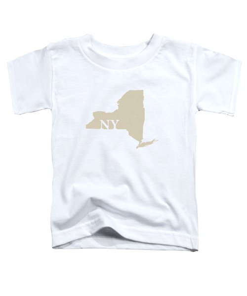 New York State Map With Text Of Constitution Toddler T-Shirt