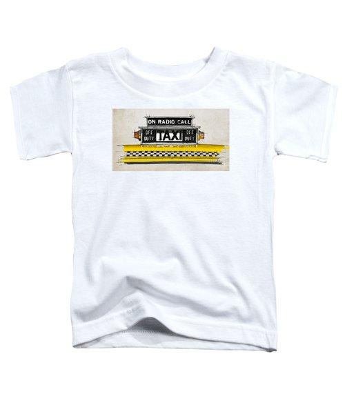 New York Taxi Sign, Yellow Cab Toddler T-Shirt