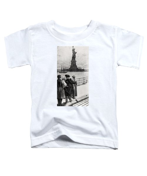 New York  Welcome To The Land Of Freedom Toddler T-Shirt