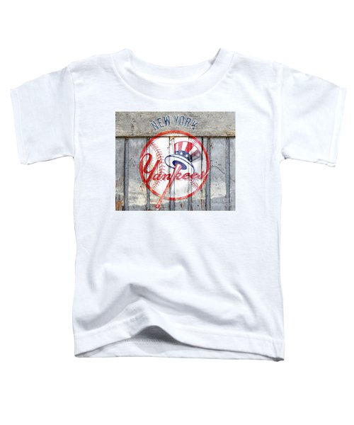 New York Yankees Top Hat Rustic Toddler T-Shirt
