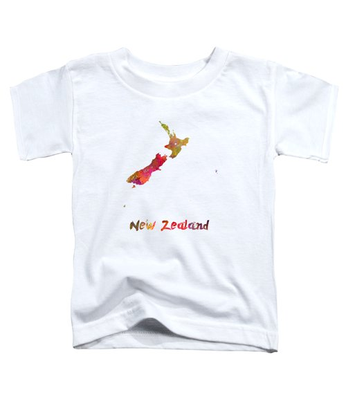New Zealand In Watercolor Toddler T-Shirt by Pablo Romero