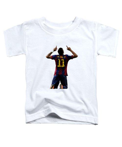 Neymar Toddler T-Shirt by Armaan Sandhu