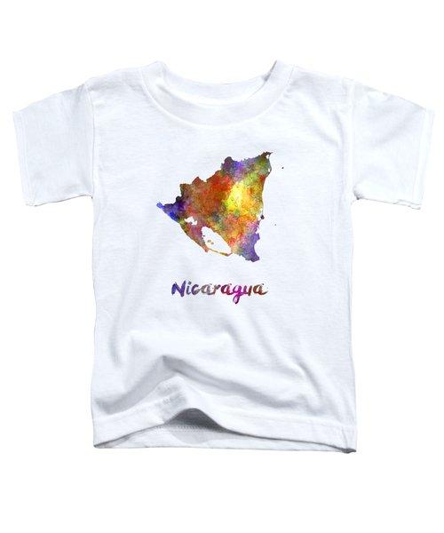 Nicaragua In Watercolor Toddler T-Shirt