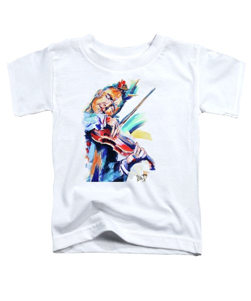 Nigel Kennedy Toddler T-Shirt by Melanie D