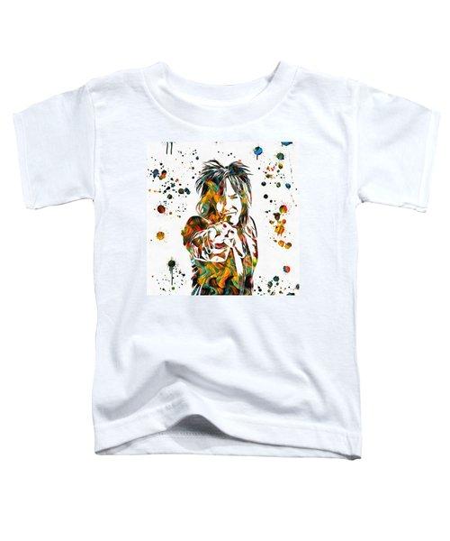 Nikki Sixx Paint Splatter Toddler T-Shirt