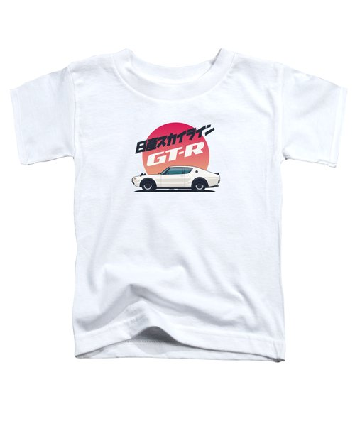 Nissan Skyline Gt-r C110 Side - Portrait White Toddler T-Shirt