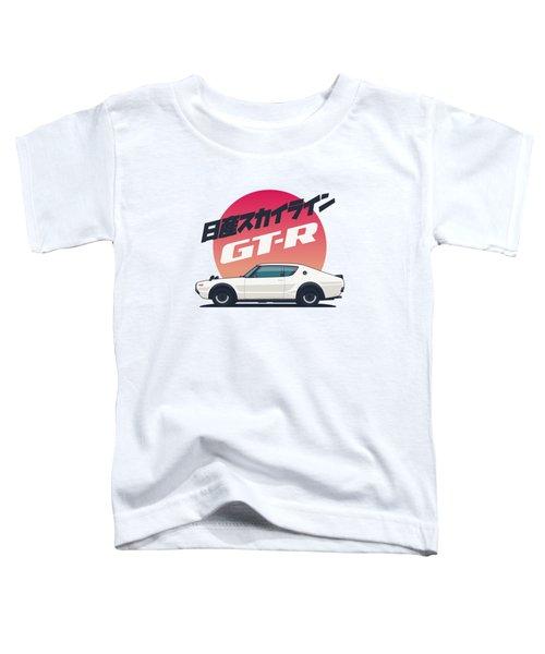 Nissan Skyline Gt-r C110 Side - Portrait White Toddler T-Shirt
