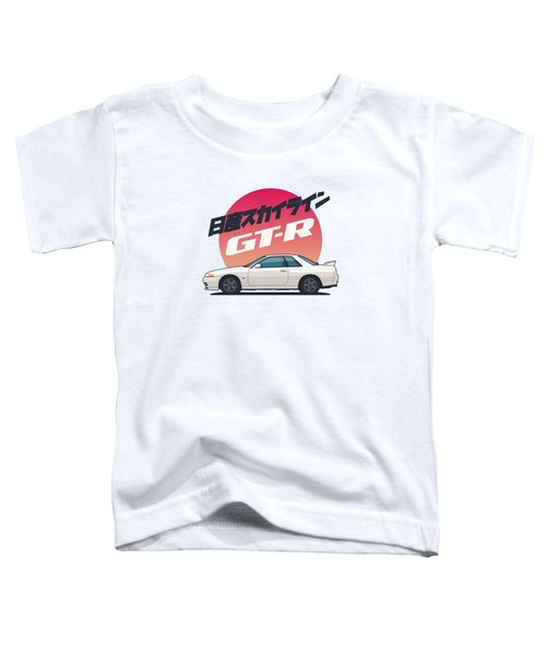 Nissan Skyline R32 Gt-r - Vert White Toddler T-Shirt