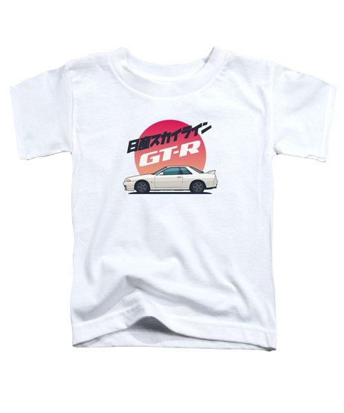 Nissan Skyline R32 Gt-r - Vert White Toddler T-Shirt