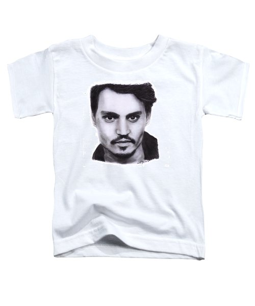 Johnny Depp Drawing By Sofia Furniel Toddler T-Shirt