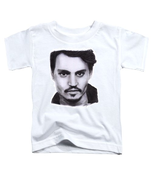 Johnny Depp Drawing By Sofia Furniel Toddler T-Shirt