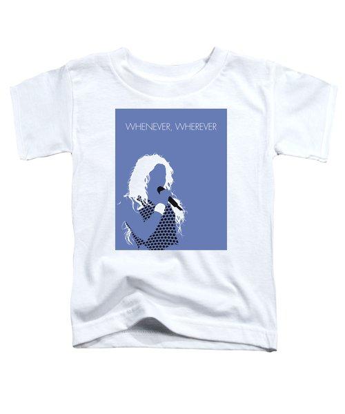 No168 My Shakira Minimal Music Poster Toddler T-Shirt