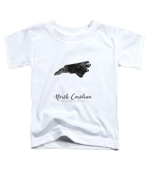 North Carolina State Map Art - Grunge Silhouette Toddler T-Shirt