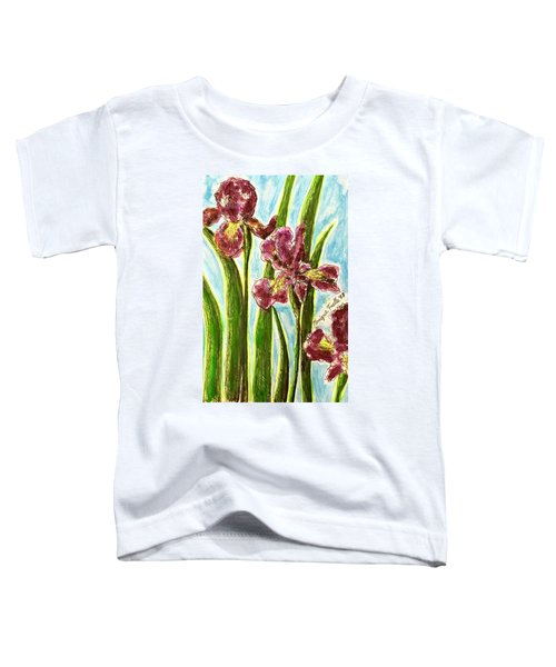 Nostalgic Irises Toddler T-Shirt