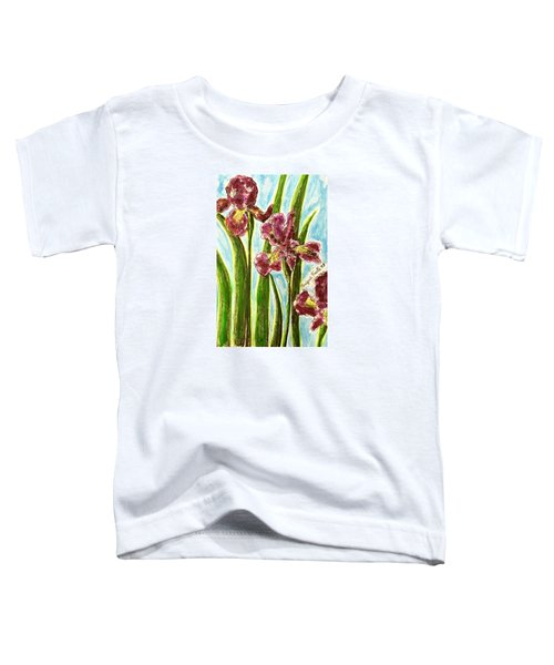 Nostalgic Irises Toddler T-Shirt