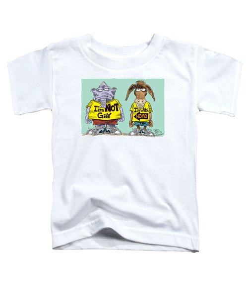 Not Gay Toddler T-Shirt