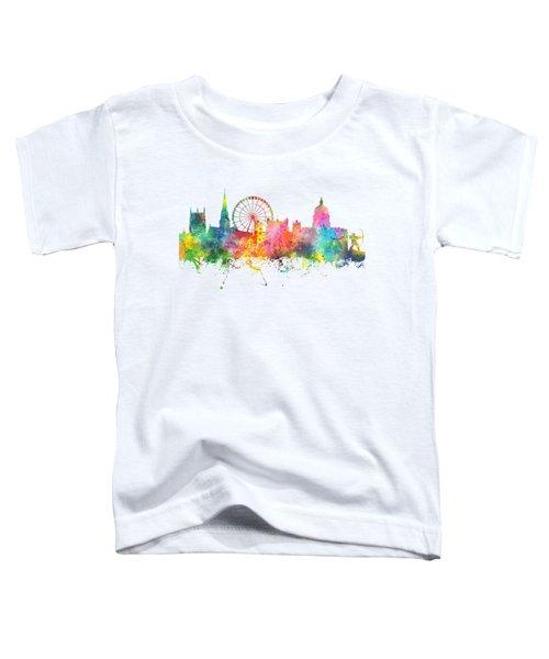 Nottingham  England Skyline Toddler T-Shirt by Marlene Watson