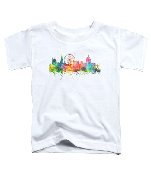 Nottingham  England Skyline Toddler T-Shirt