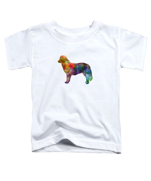 Nova Scotia Duck Tolling Retriever In Watercolor Toddler T-Shirt by Pablo Romero