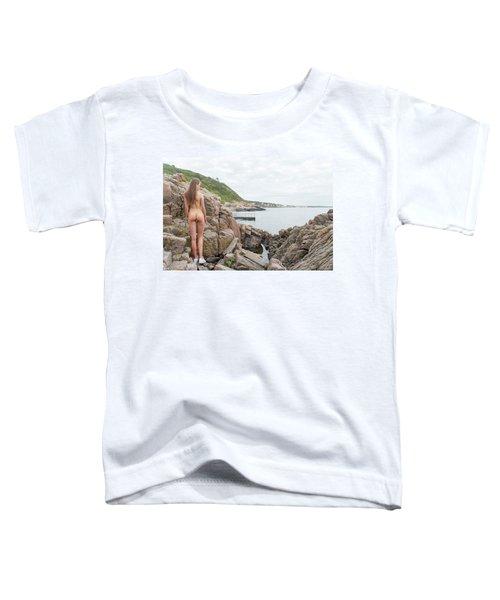 Nude Girl On Rocks Toddler T-Shirt