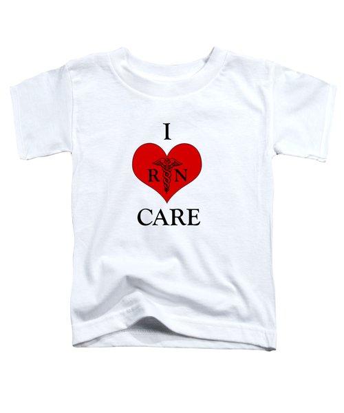 Nursing I Care -  Red Toddler T-Shirt by Mark Kiver