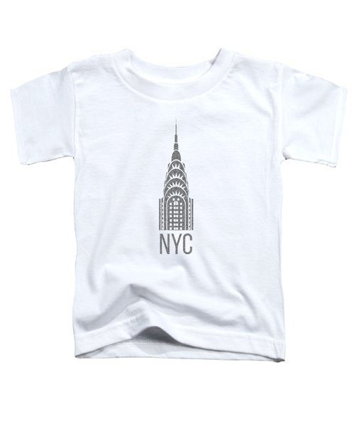 Nyc New York City Graphic Toddler T-Shirt by Edward Fielding