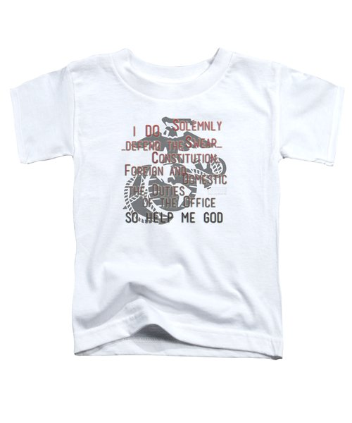 Toddler T-Shirt featuring the mixed media Oath by TortureLord Art