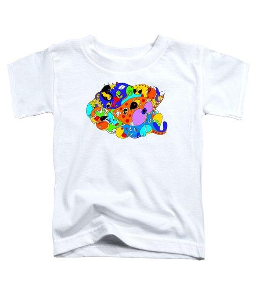 Ocean Life Toddler T-Shirt by Sally Bosenburg