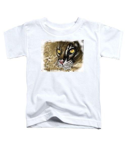 Ocelot Toddler T-Shirt by Darren Cannell
