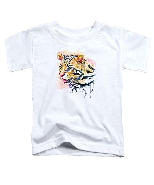 Ocelot Head Toddler T-Shirt by Marian Voicu