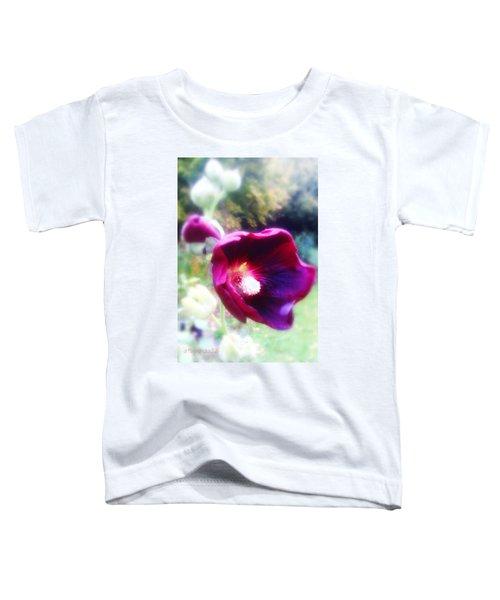 October Hollyhocks Toddler T-Shirt