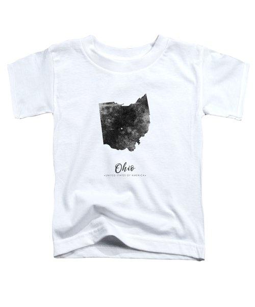 Ohio State Map Art - Grunge Silhouette Toddler T-Shirt