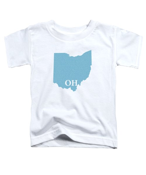 Ohio State Map With Text Of Constitution Toddler T-Shirt
