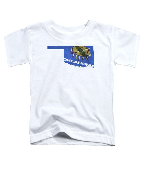 Oklahoma Map Art With Flag Design Toddler T-Shirt