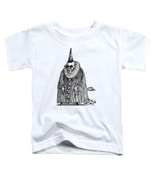 Old Clown Toddler T-Shirt by Akiko Okabe