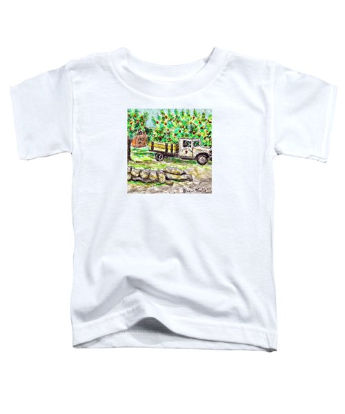 Old Farming Truck Toddler T-Shirt