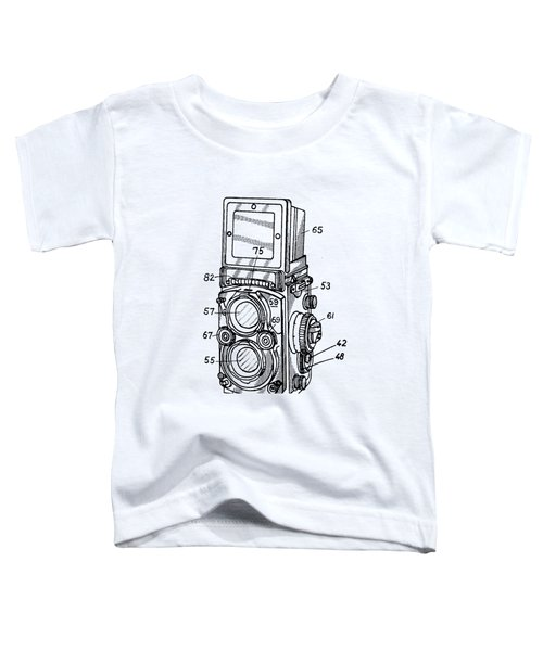Toddler T-Shirt featuring the digital art Old Rollie Vintage Camera T-shirt by Edward Fielding