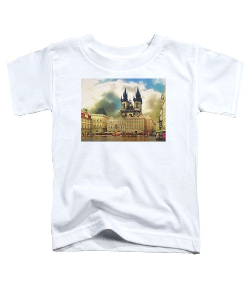 Old Town Square Prague In The Rain Toddler T-Shirt