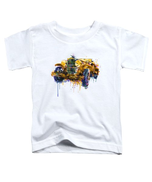 Oldtimer Automobile In Watercolor Toddler T-Shirt