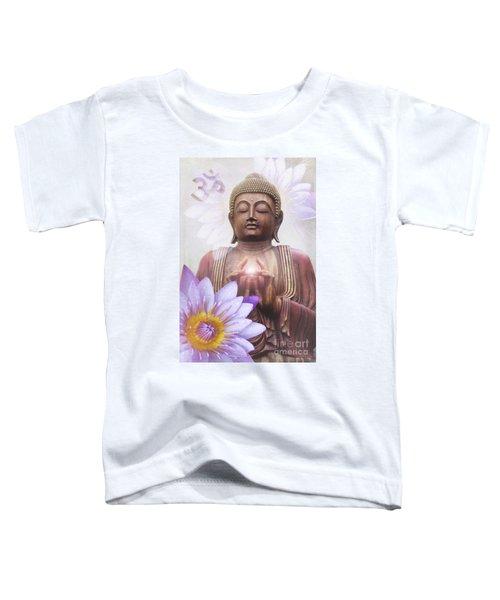 Om Mani Padme Hum - Buddha Lotus Toddler T-Shirt