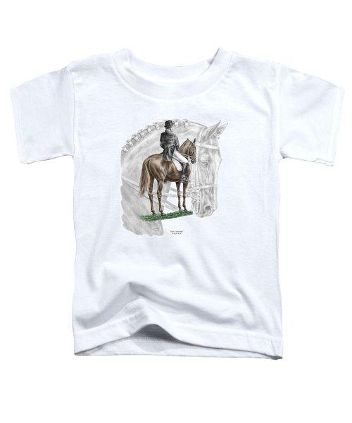 On Centerline - Dressage Horse Print Color Tinted Toddler T-Shirt