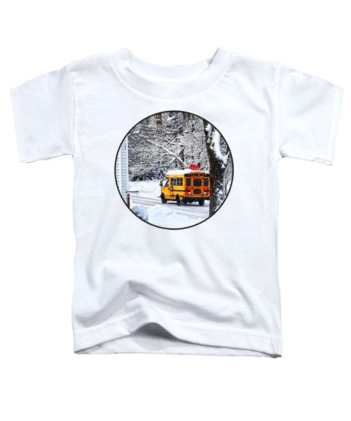 On The Way To School In Winter Toddler T-Shirt