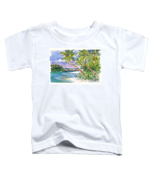 Toddler T-Shirt featuring the painting One-foot-island, Aitutaki by Judith Kunzle