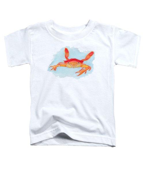 Orange Swimmer Crab Toddler T-Shirt