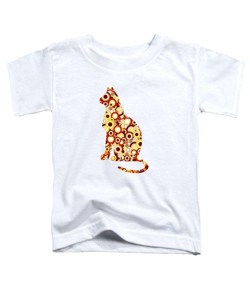 Orange Tabby - Animal Art Toddler T-Shirt