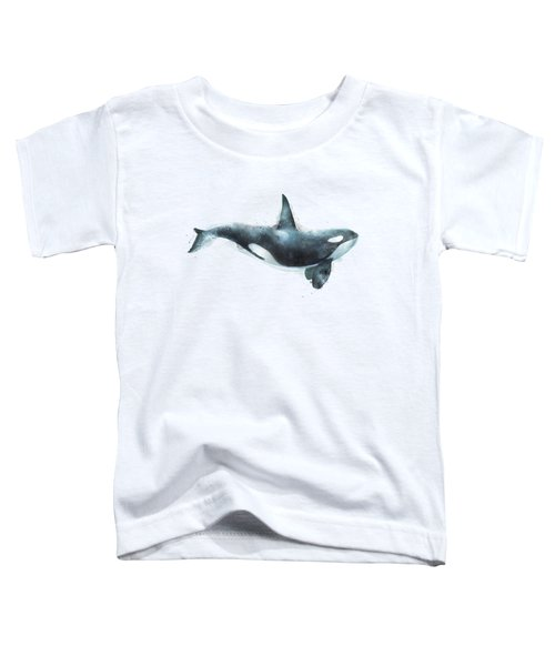 Orca Toddler T-Shirt by Amy Hamilton