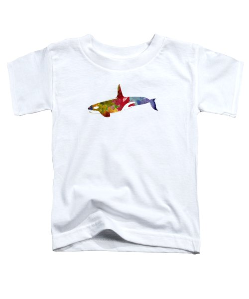 Orca - Killer Whale Drawing Toddler T-Shirt by World Art Prints And Designs
